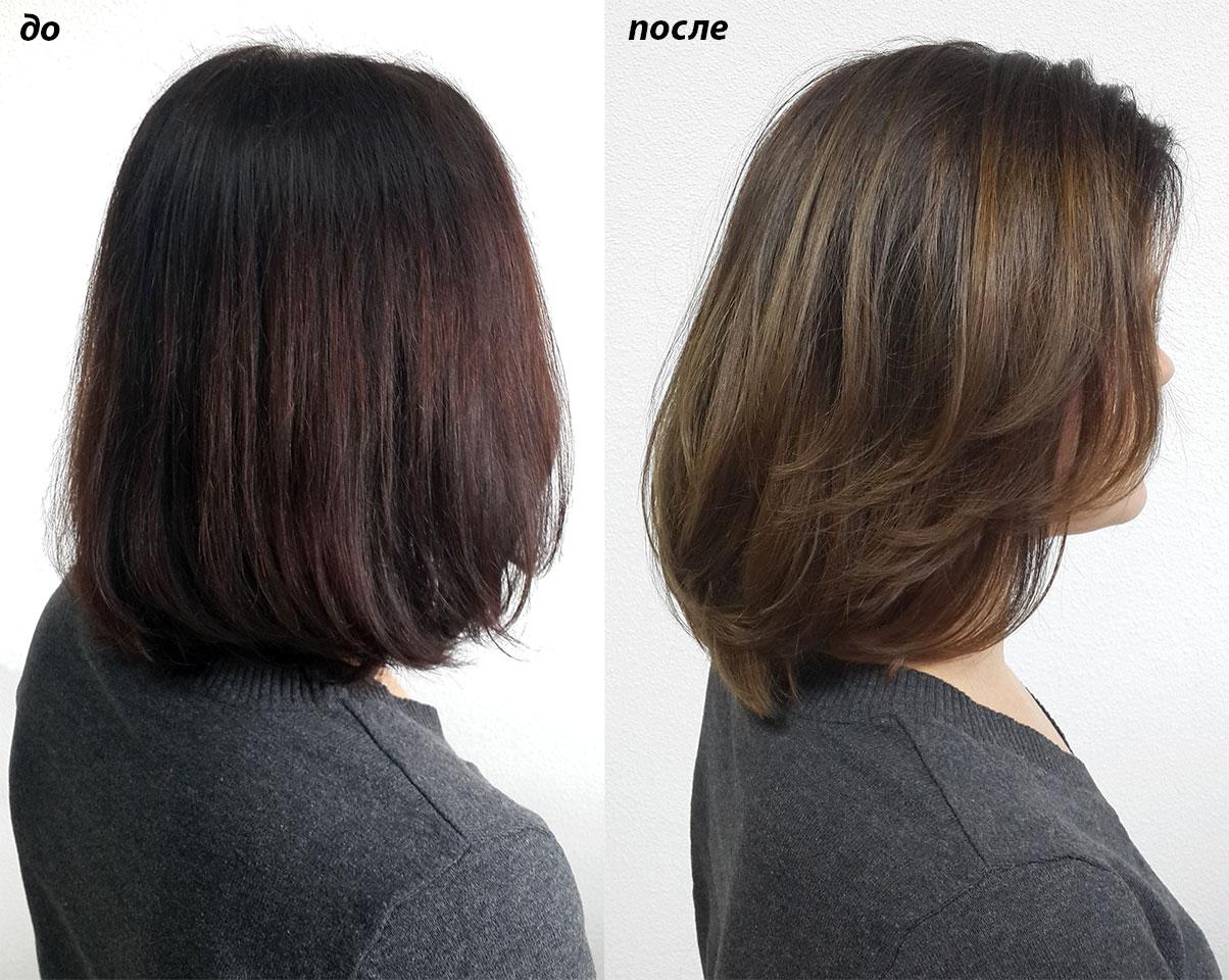 стрижка визуально может немного вытянуть длину волос