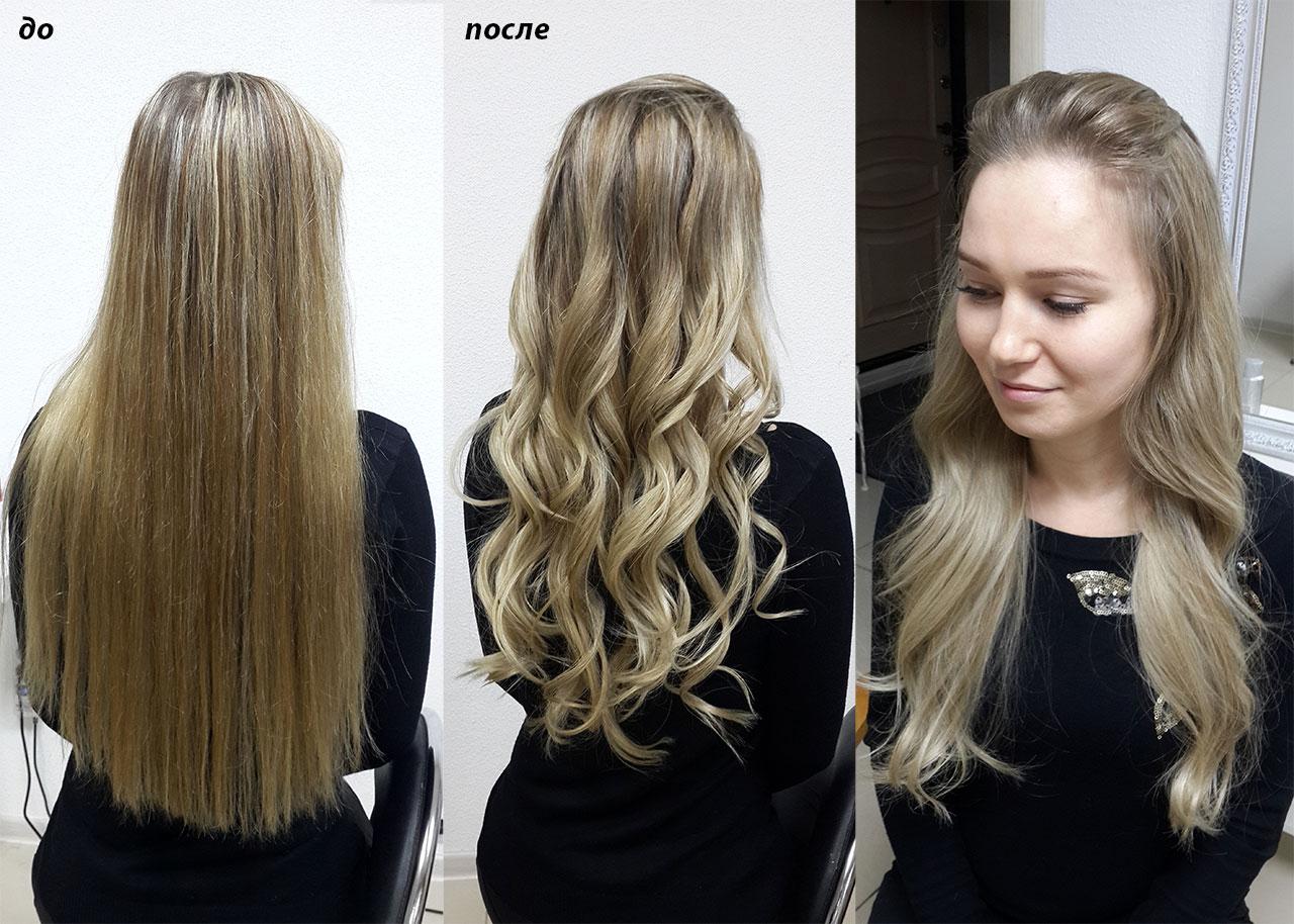 Окрашивание балаяж Добавили света на длину волос