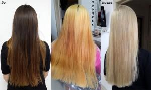 Окрашивание в светлый блонд с Olaplex.