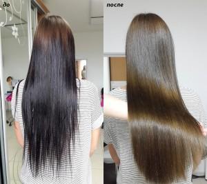 Потрясающе блестящие волосы без кератинового выпрямления.