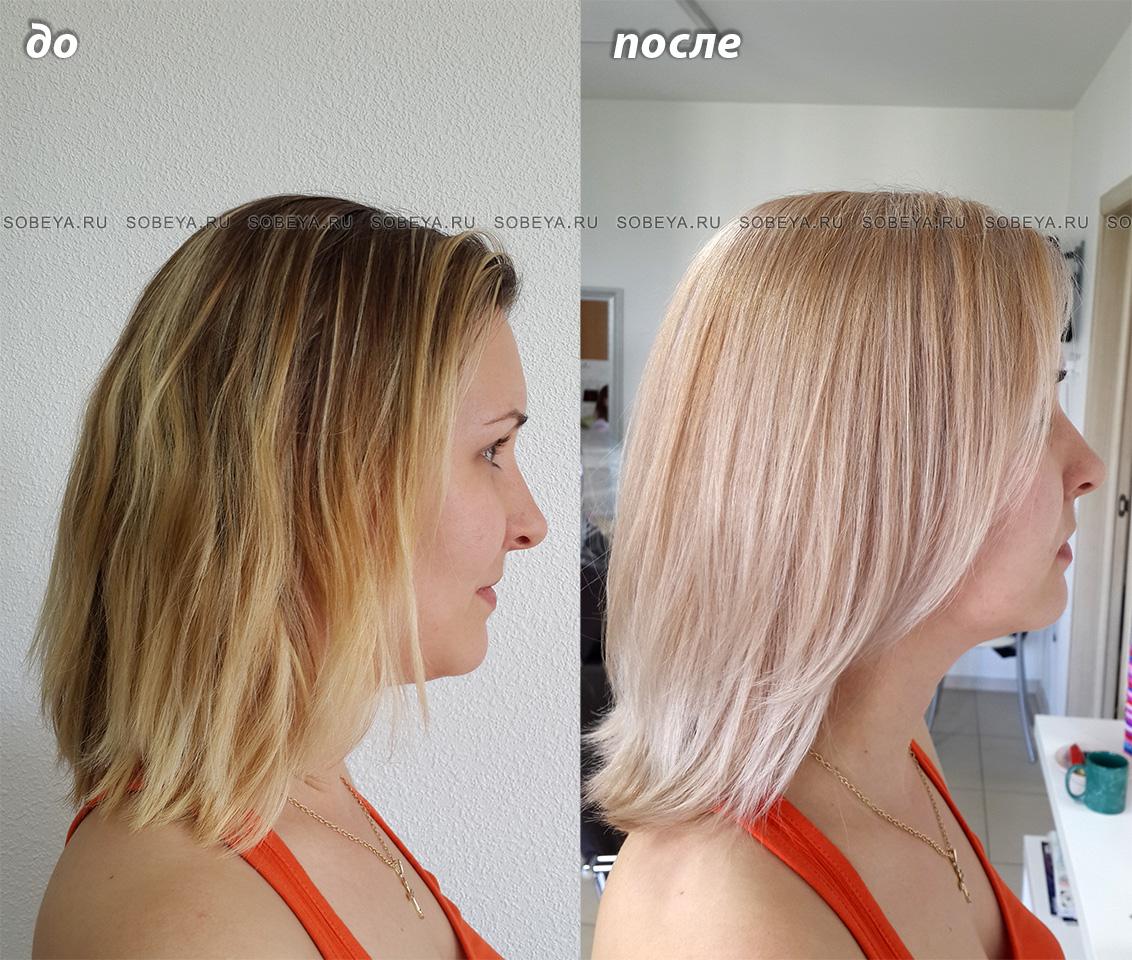 Окрашивание в светлый блонд