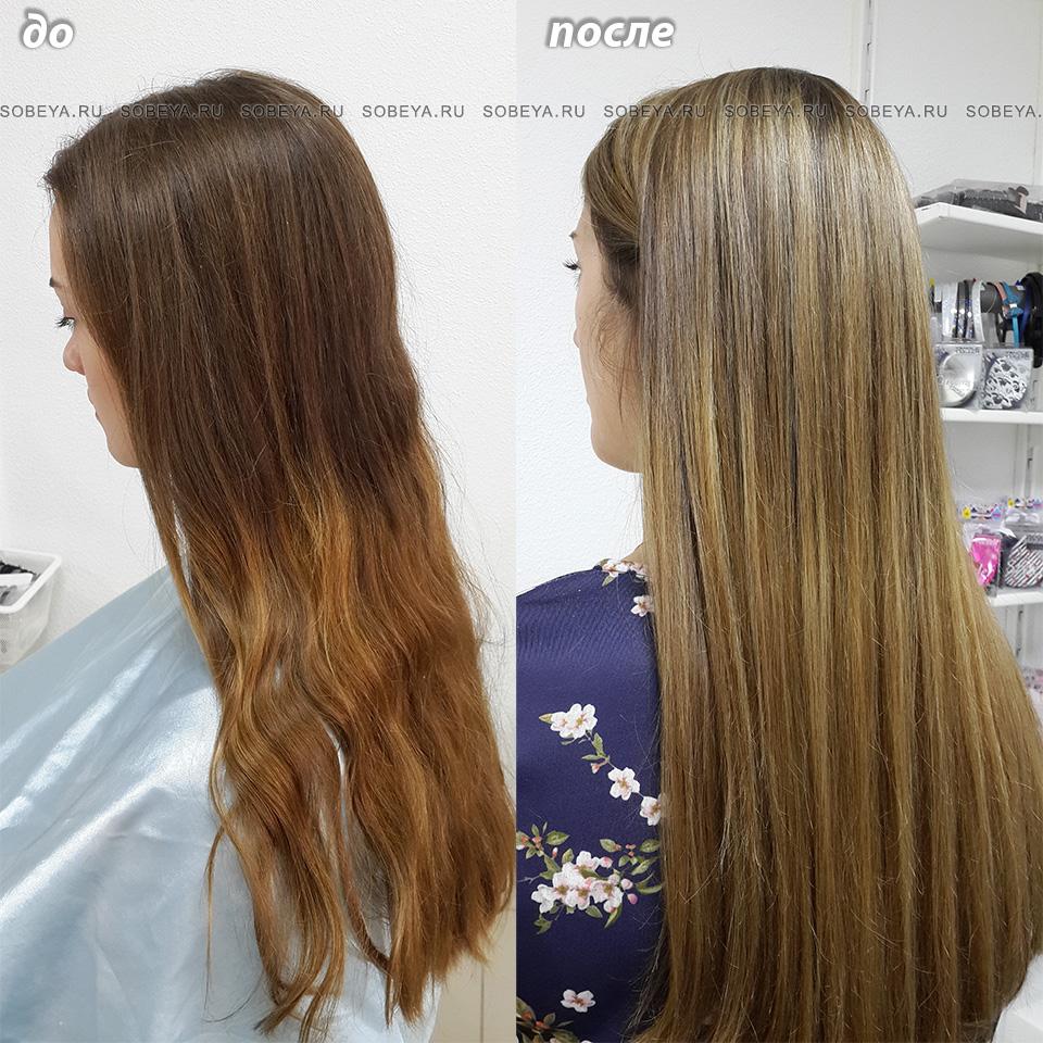 Окрашивание волос До и После Самое популярное