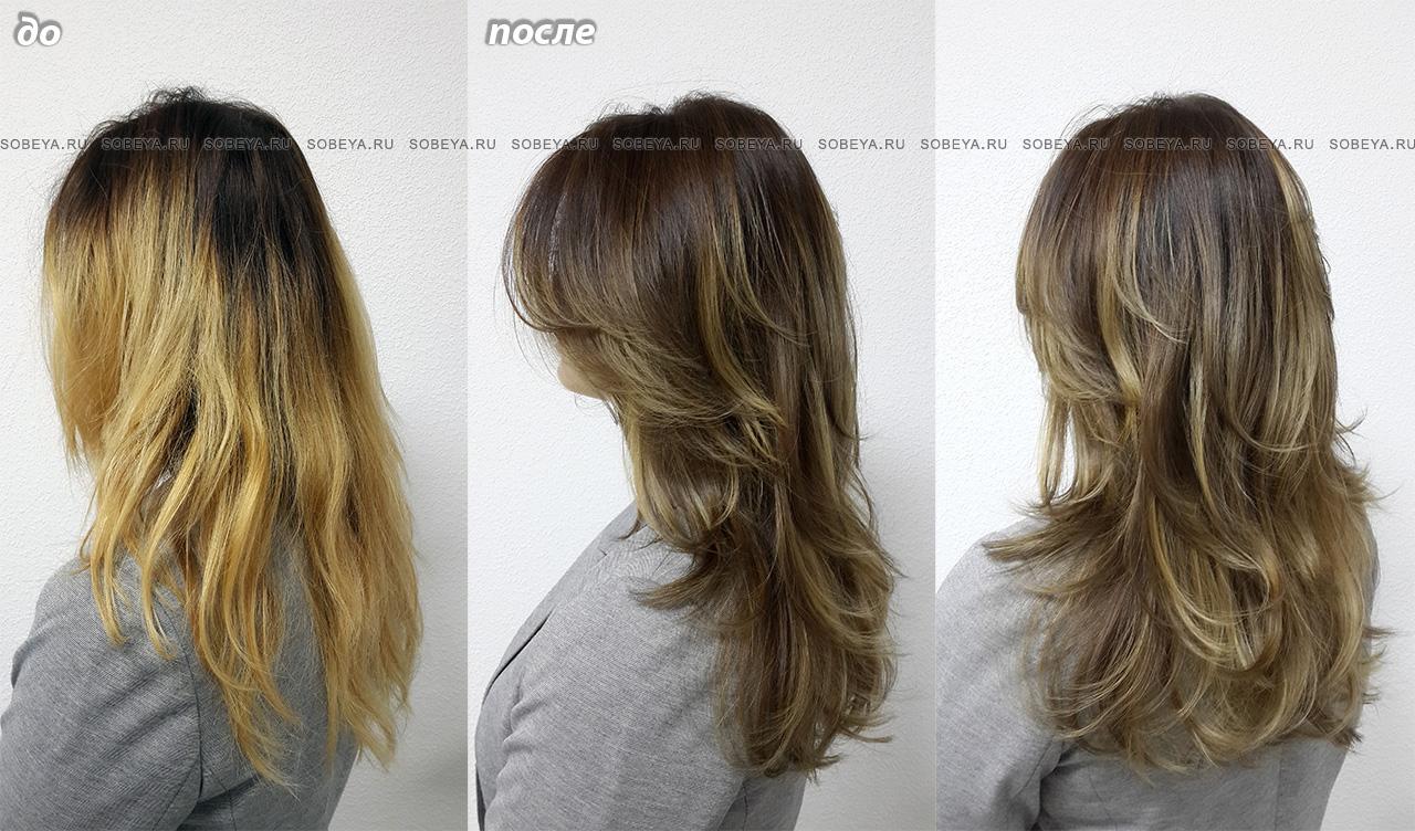 Обратное мелирование Уйти от блонда в бронд или в русый
