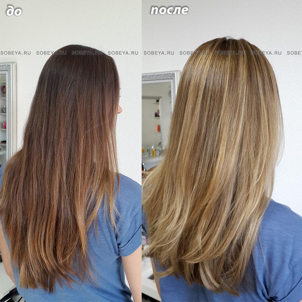 Калифорния Балаяж Стрижка на длинные волосы
