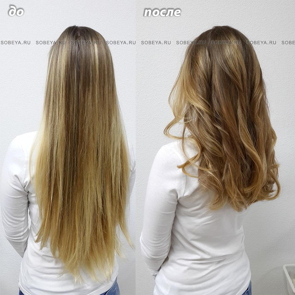 Стрижка на длинные волосы Укладка