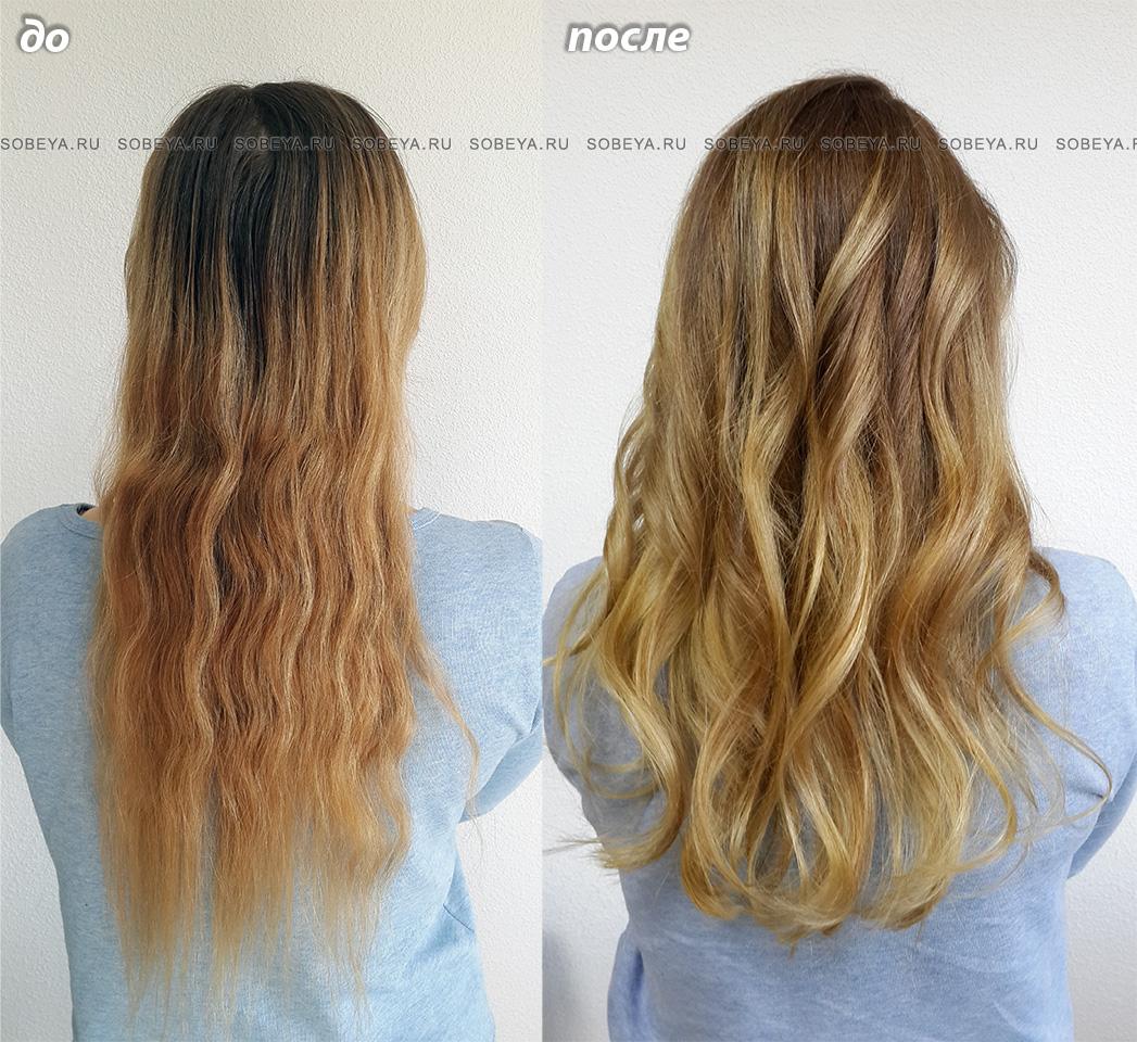 Окрашивание волос Балаяж Стрижка Укладка Локоны