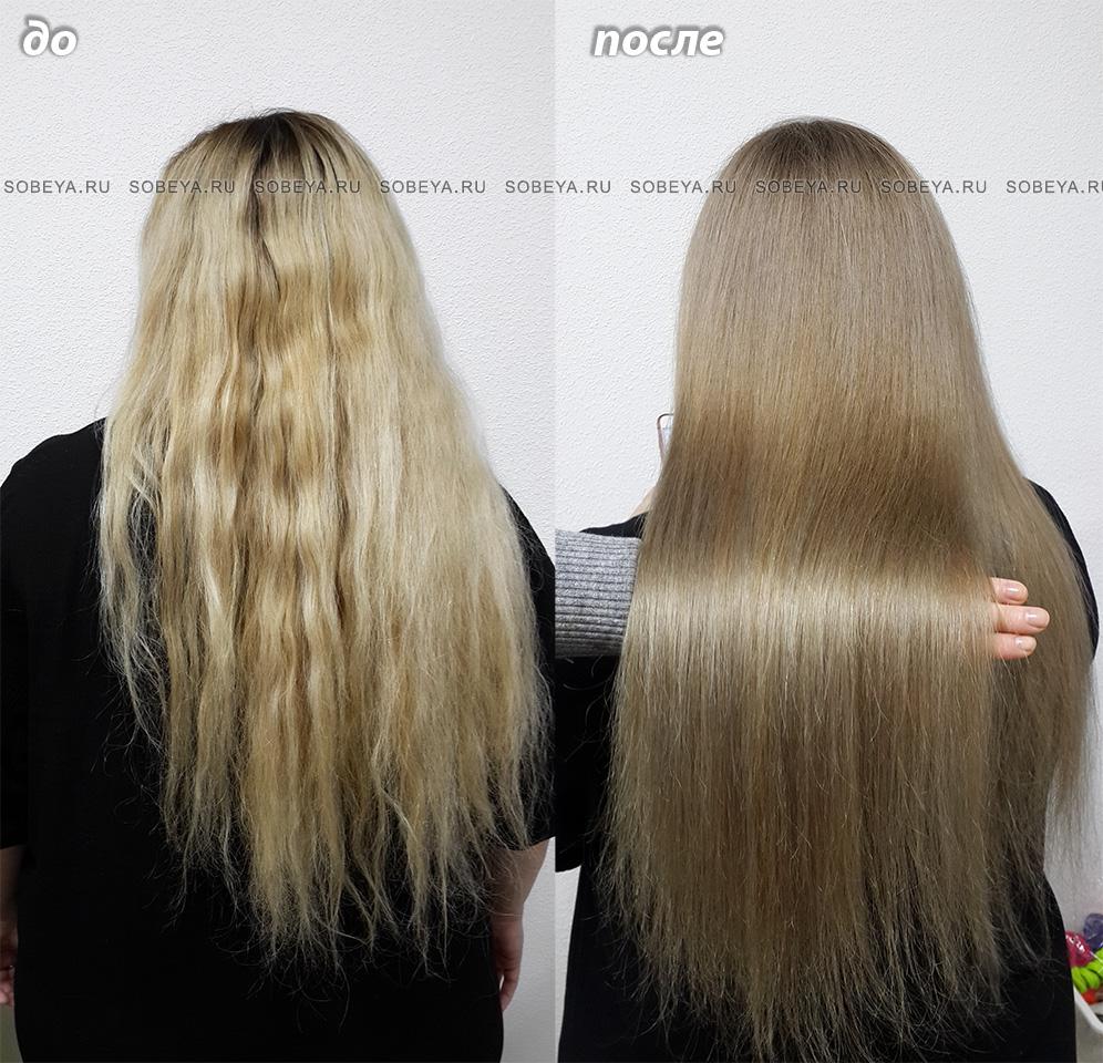 Окрашивание волос из блонда в русый бежевый цвет