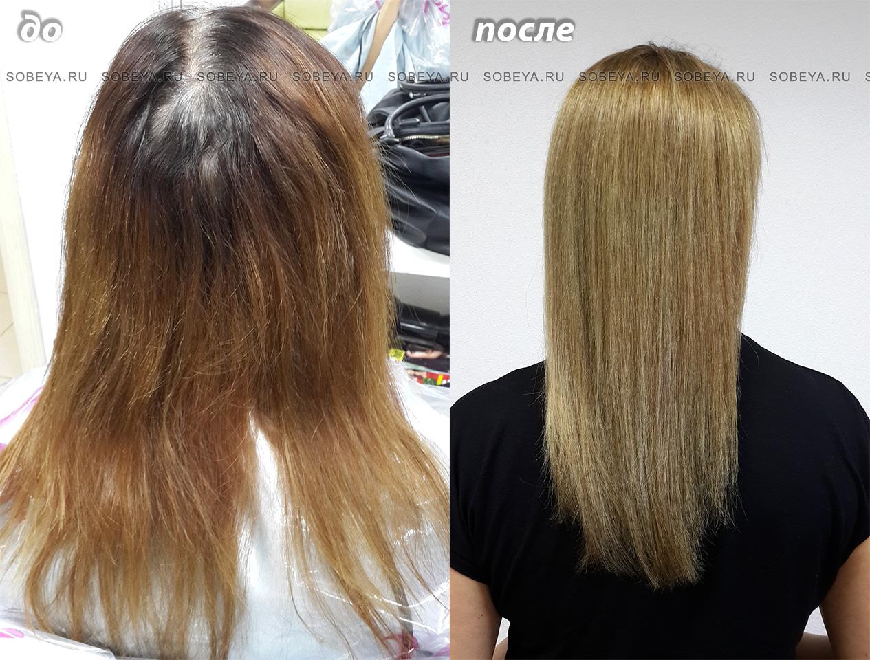 Седина Темная полоса Рыжеватые концы волос превращаются в ровный цвет на 8 уровне тона