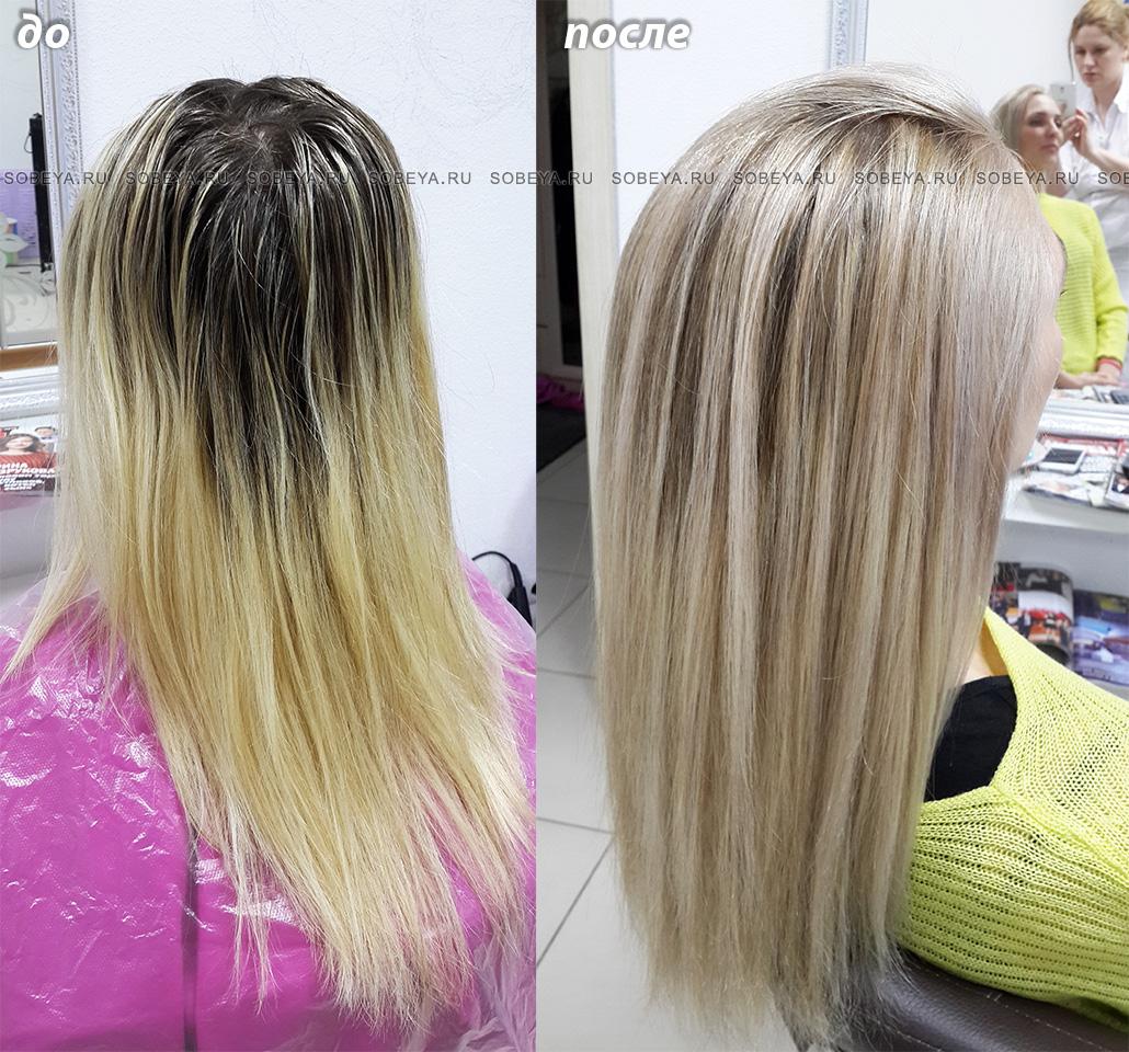 Калифорнийское мелирование щадящее окрашивание волос