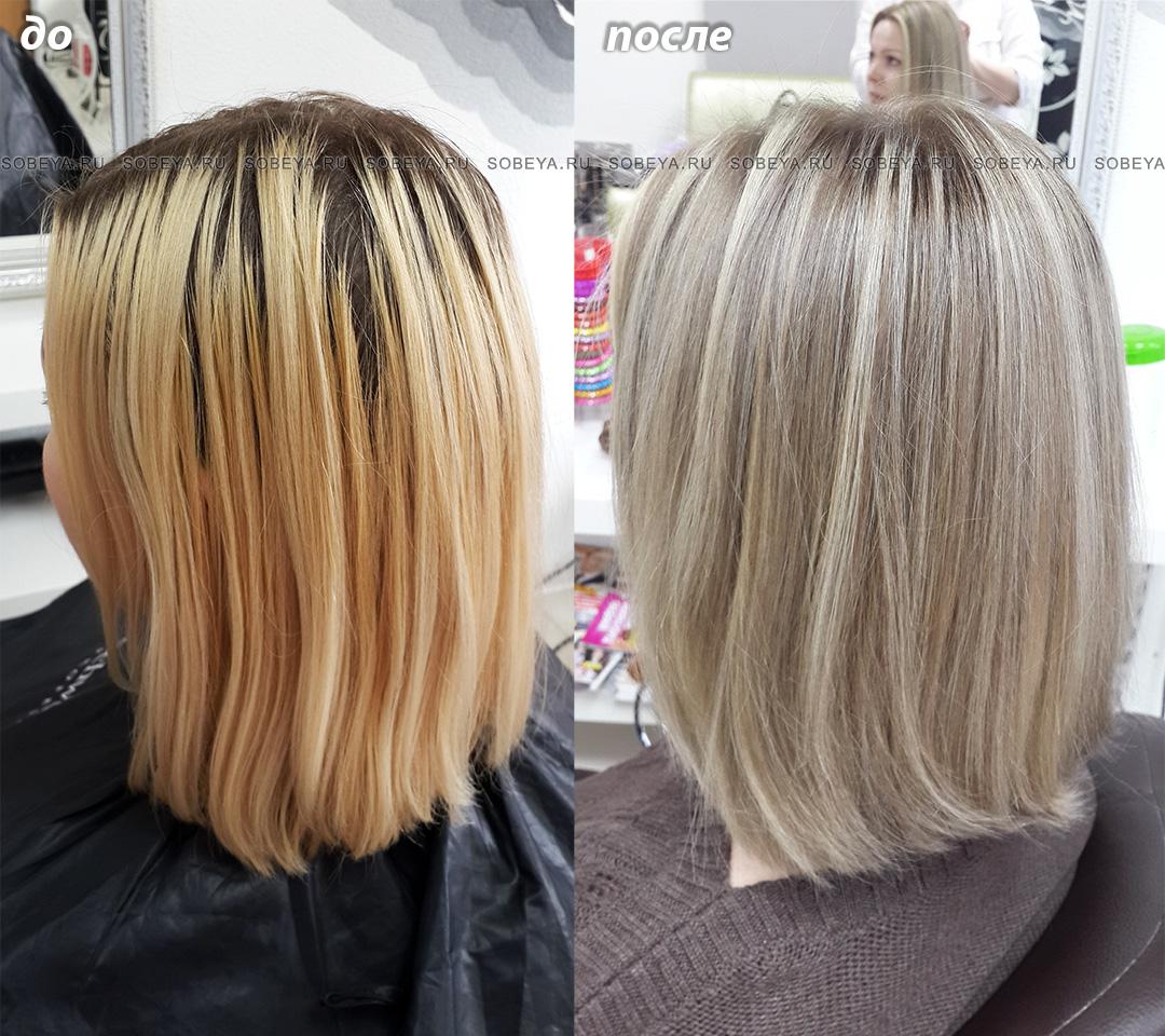Окрашивание волос Веницианское мелирование или обратное мелирование