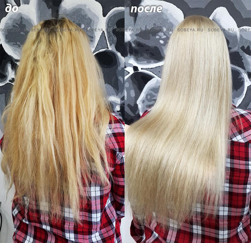 Окрашивание волос в светлый платиновый блонд