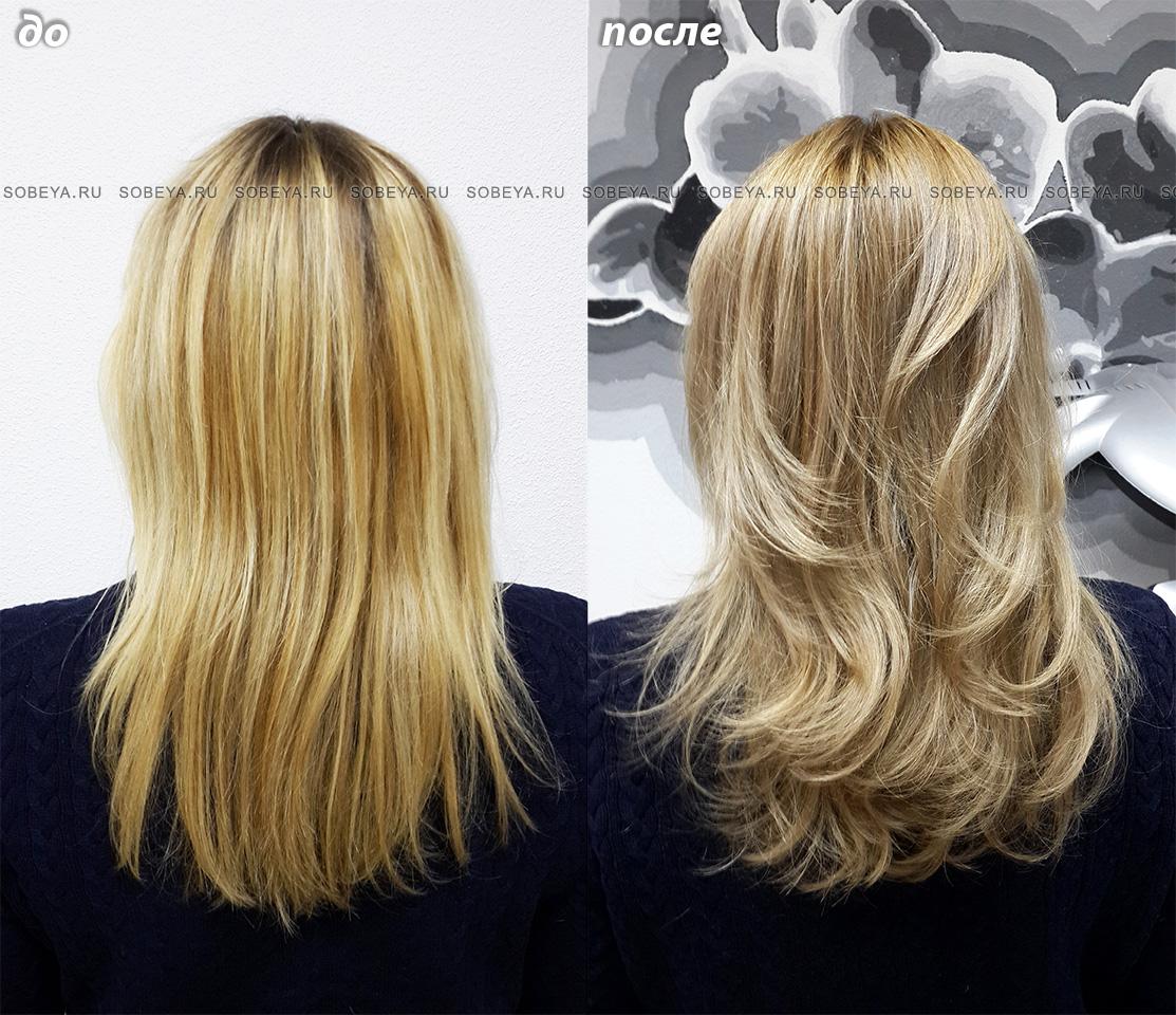 Окрашивание волос Стрижка Укладка Прическа крупные локоны
