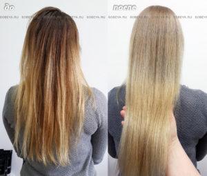 Окрашивание волос в светлый блонд