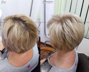 Исправление цвета волос «триколор»