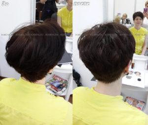 Стрижка на короткие волосы, небольшая коррекция цвета
