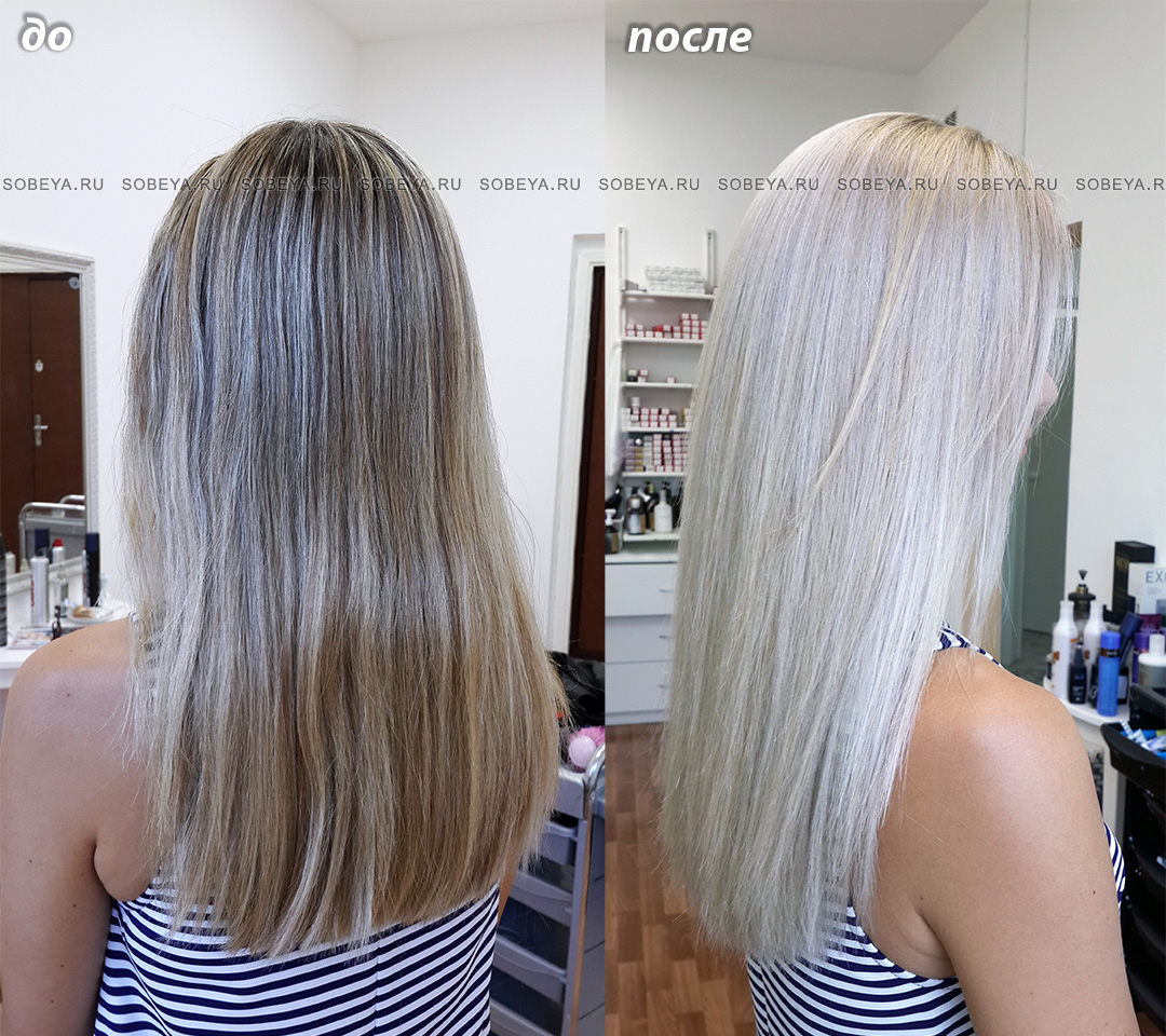 Как сделать мелирование темное на обесцвеченных волосах