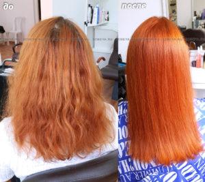 Ярко-рыжий светящийся цвет волос
