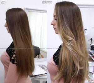 Имитация выгоревших волос — идеальный выбор для первого окрашивания.