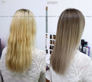 Окрашивание волос из блонда в более темный оттенок