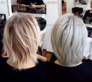 Окрашивание волос в холодный светлый блонд