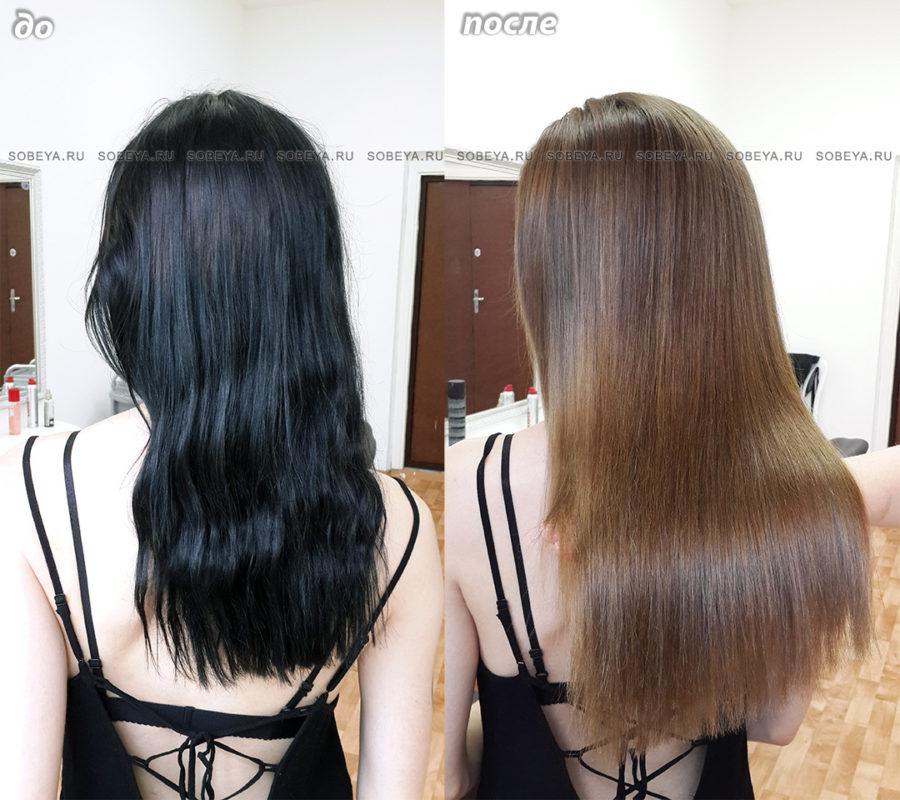 Вывести черный цвет волос в домашних условиях фото 841