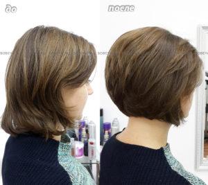 Короткая женская стрижка с коротким затылком