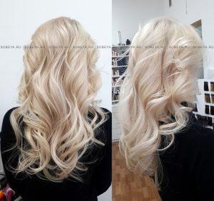Сливочный блонд на десятом уровне тона