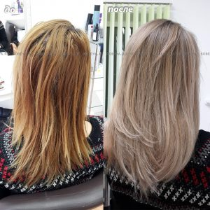 Методом блондирования Шатуш сделали цвет волос более холодным.