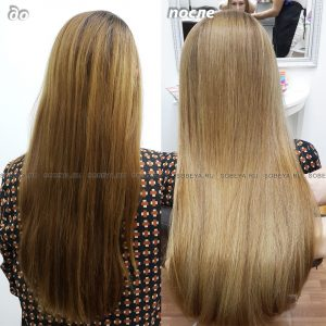 Выравнивание цвета концов и корней волос.