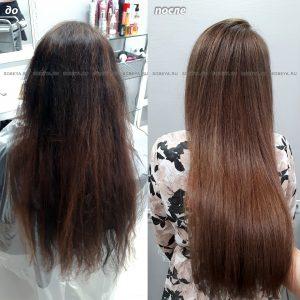 Окрашивание волос с подготовительным этапом