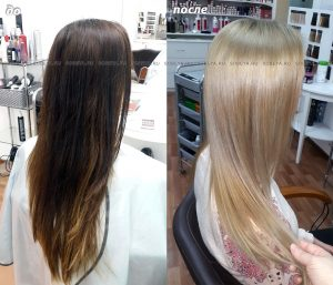 Окрашивание из темного цвета волос в светлый