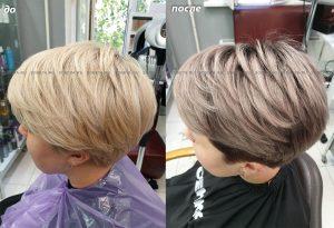 Растяжка цвета может быть и на коротких волосах