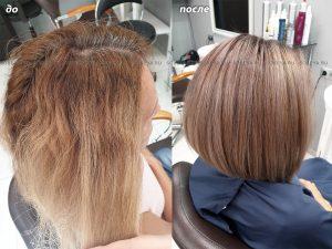 Выравниваем цвет волос