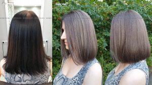 Выведение цвета волос. Смывка черного.