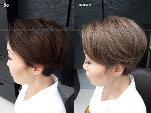Окрашивание волос в русый цвет. Выведение.