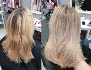 Окрашивание корней волос, тонирование.