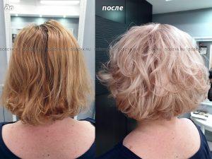 Окрашивание в блонд. Новый цвет волос + новая стрижка.