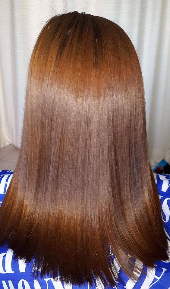 Потрясающий блеск и качество волос после кератинового восстановления