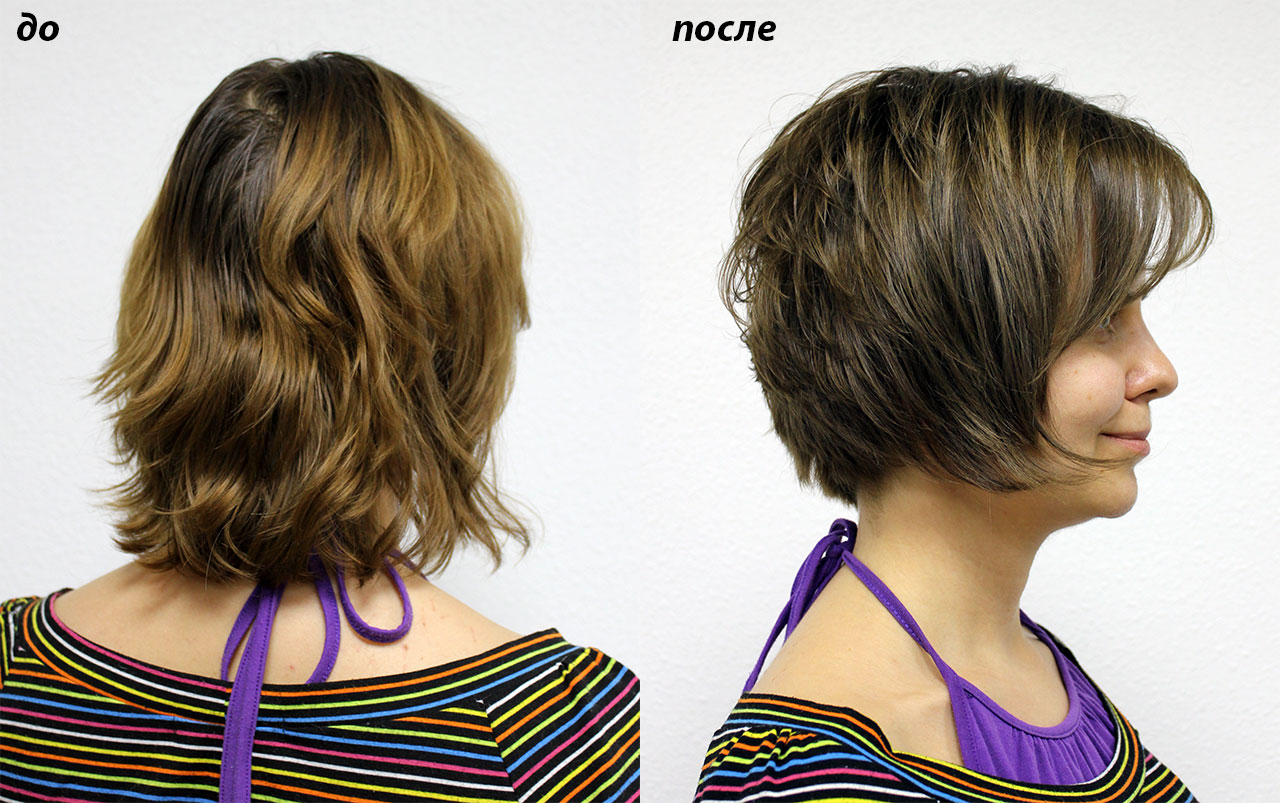 Короткая стрижка и натуральный цвет с бликами на концах