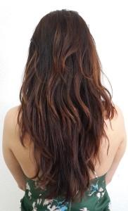 темный четиреколор на волосах