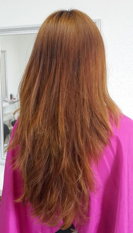 цвет волос как рыжая лиса